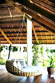 outdoor swing bed australia floating round hanging outside plans porch