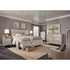 weathered white 4 piece california king bedroom set raelynn