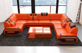 Ragusa Sofa U Form In Echtleder Oder Auch Kunstleder Mix