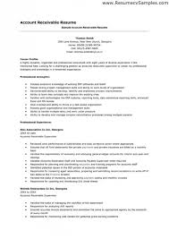 accounts payable resume sample objective receivable format manager template  clerk