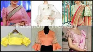 Latest Frill Blouse Design Ruffle Sleeves Blouse Design Bell Sleeves Blouse Frill Sleeves Blouse Designs Fashion Friendly