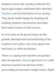 answers what are the most inspiring teachers day speech to student s speech on teacher s day