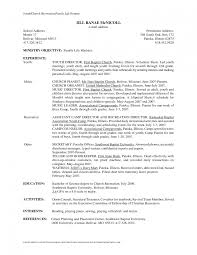 Church Business Administrator Cover Letter Childrens Pastor Resume