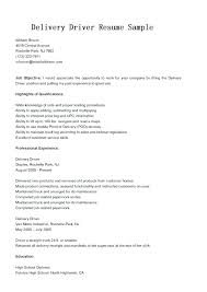 Delivery Driver Resume Examples Delivery Driver Resume Sample Similar Resumes Delivery Truck Driver