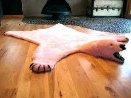 fake bear rug fake bear rug faux polar awesome fur skin with head bear skin rug