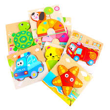Children Intelligence Develop <b>Wooden Puzzle</b> Cartoon Toy <b>3D</b> ...