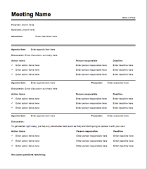 Meeting Minutes Free Template