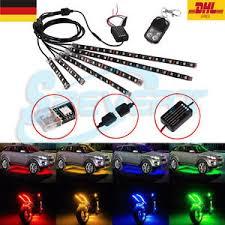 Das Bild Wird Geladen 6x LED RGB Streifen Lichterkette AUTO Motorrad  Beleuchtung