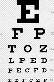 Snellen Chart Dimensions Black Text On Blue Background Snellen Chart Eye Chart Eye