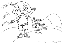 Dora Coloring Pages Kids Games Central