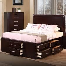 Modern Full Size Bedroom Sets Platform Bed Full South Shore Flexible Black Oak Fullsize