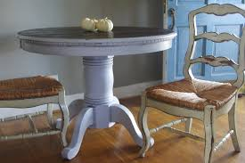Painted Round Kitchen Table Distressed Painted Round Dining Table