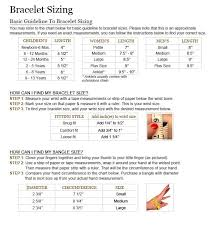 Bracelet Size Chart Nifty Thrifty Cool