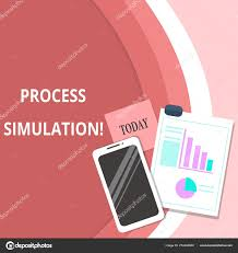 Pie Chart Simulator Handwriting Text Process Simulation Concept Meaning