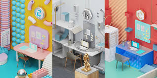 office graphic design. These Office Interiors Are Inspired By Well-Known Fonts, Courtesy Of HomeAdvisor Graphic Design