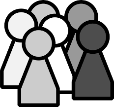 group of people clipart black and white. Beautiful Group Black White People Clip Art  Game Pieces Cliparts With Group Of People Clipart And C