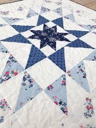 Blue Carolina Starburst Quilt Pattern | FaveQuilts.com & Blue Carolina Starburst Quilt Pattern Adamdwight.com