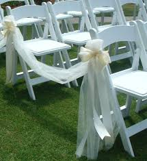 chair decorations. white tulle for wedding decorations ribbon chair