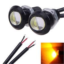 Amazon Com 10 X Led Eagle Eye Yellow Light Daytime Running