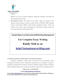 sample on international marketing management by instant essay writing thereby it is important for 7