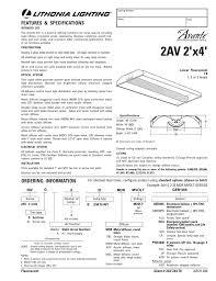 Lithonia Lighting Avante 2av 2x4 2av 2 X4