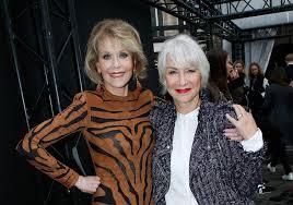Jane Fonda, Helen Mirren Walk Runway at Paris Fashion Week | Time