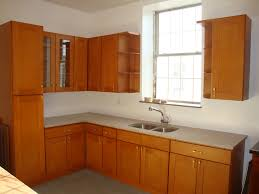 light cherry kitchen cabinets. Kitchen, Light Cherry Cabinets In Simple And Minimalist Design With Kitchen Sink Next To The