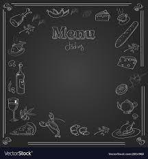 Chalkboard Menu Board Menu Design With A Chalk Board Texture
