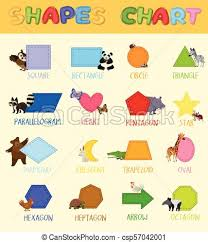Shapes Chart Images Colourful Shapes Chart With Cute Animals