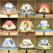 faux rawhide lamp shades rustic painted rawhide lamp shades for southwest decorating faux rawhide chandelier lamp shades