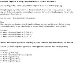 function to discretize a line between two points matlab answers matlab central