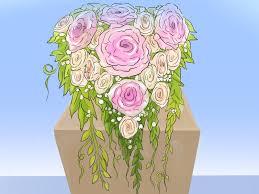 how to arrange a cascade bridal bouquet