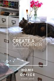 office pet ideas. Home Office Sneak Peek With Cozy Cat Corner | Window Perch Ideas Via Firsthomelovelife. Pet