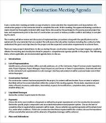 Management Meeting Agenda Template Delectable Construction Meeting Agenda Template 48 Free Word PDF Documents