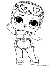 Lol Doll Colouring Pages Spice Series Coloring Unicorn Dolls