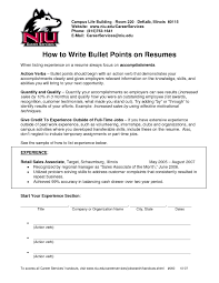 Resume Bullet Points Period Fresh Resume Bullet Points Examples