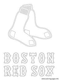Small Picture Boston Red Sox Logo Mlb Baseball Sport Coloring Pages Printable