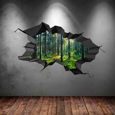 Image is loading FULL-COLOUR-WOODS-FOREST-TREES-JUNGLE-CRACKED-3D-