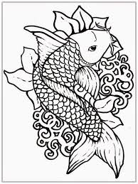 Great Printable Fish Coloring Pages For Adults 75 For With Printable