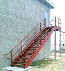 metal outdoor stairs exterior stair stringers wonderful rs of r utility modern for