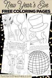 History and origin of the new year : New Year S Eve Coloring Pages For Kids Free Printable