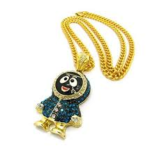 necklaces shiny jewelers usa mens iced out gold silver eskimo pendant box rope cuban link chain necklace gold cuban chain men jewelry accessories