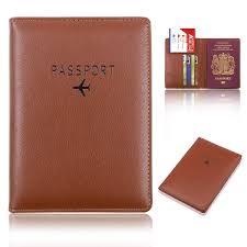 details about uni leather passport holder wallet travel organizer cover case rfid blocking