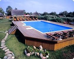 semi inground pool ideas. Semi Above Ground Pool Ideas With Deck Cover Inground Landscaping P