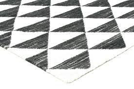 geometric wool rug black white design rugs ru