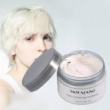 Us 499 Mofajang Haar Kleur Wax Cream Pastel Kapsels Tijdelijke Haarverf Gel Modder Verf Modder Gekleurde Creme Groen Zilver Kleuring Waxs In