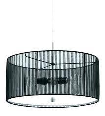 large drum light fixture and sheer black shade flush mount great lavish
