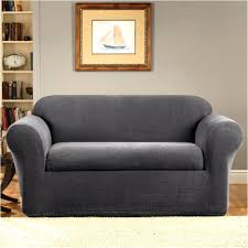 2 piece t cushion sofa slipcover s sure fit stretch leather serta grid