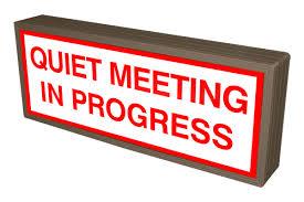 38834 Sblf718w C887r Quiet Meeting In Progress Led Signs