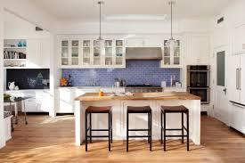 Wallpaper: White Kitchen Furniture With Blue Tiles For Backsplash; Kitchen  Colors; September 5, 2016; Download 1296 x 864 ...